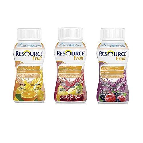 Nestle Trinknahrung Resource® Fruit Mischkarton, 200 ml, 24 Stück
