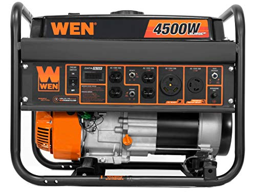 WEN 56475 4750-Watt Portable Generator with Electric Start and Wheel Kit 5