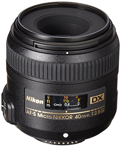 Nikon AF-S DX Micro-NIKKOR 40mm f/2.8G Close-up Lens for Nikon DSLR Cameras (Renewed)