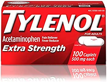100-Count Tylenol Extra Strength Caplets with 500 mg Acetaminophen