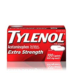 100-count of Tylenol Extra Strength Caplets with acetaminophen to provide temporary relief of minor aches and pains and help reduce fever Each extra strength caplet contains 500 mg of acetaminophen for effective, lasting pain relief, and has an excel...