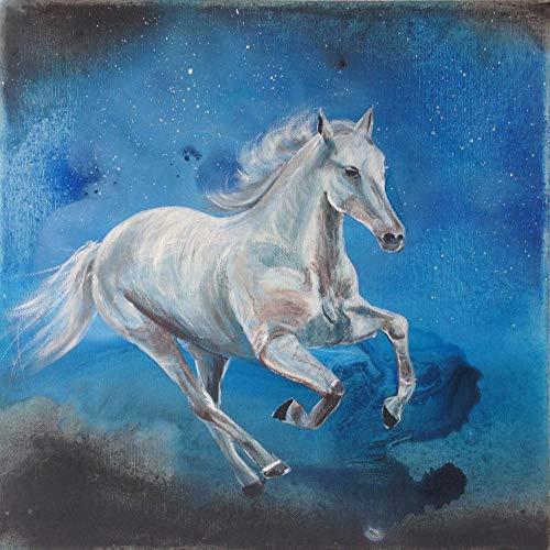 Puzzel 500 Stukjes Paard Blauwe Achtergrond, Educatieve Spellen, Puzzelgeschenken Voor Vrienden
