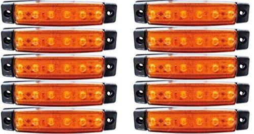10 x LED côté avant tracé 12 V Ambre Marqueur LED pour camion camping-car caravane remorque
