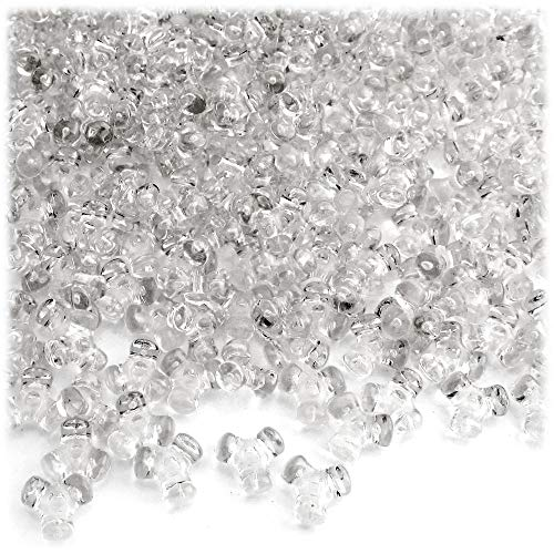 1,000pc Plastic Transparent Tribeads 10mm Clear Beads