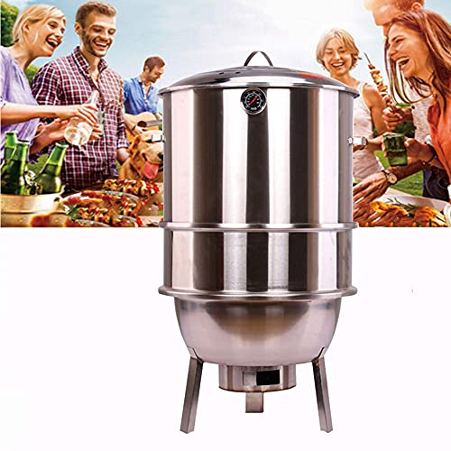 N\C ZSCC Standing Charcoal Barbecues Grills, Stainless Steel BBQ Grill...