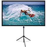 2IN1 Projector Screen with Tripod Stand and Wall-Mounted, 80 Inch 16:9 1.1Gain Portable