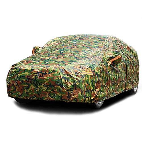 Cubiertas impermeables camuflaje coche al aire libre cubierta de protección solar for el coche reflector Polvo Lluvia Nieve protectora SUV Sedan completa