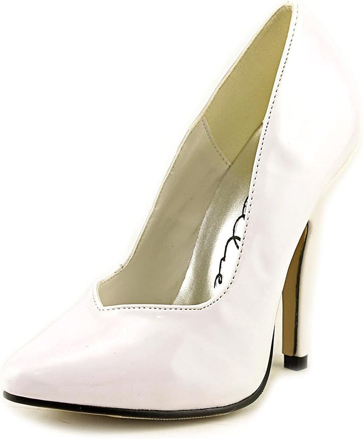 ELLIE shoes Sexy Classic Womens Pumps Patent High Heel 8220 WHITE-5