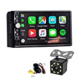 Dayo Android Auto Carplay Double Din Car Stereo Radio, with Backup Camera Bluetooth Touch Screen Player