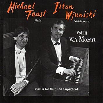 Mozart: Sonatas for Flute and Harpsichord, Vol. 3