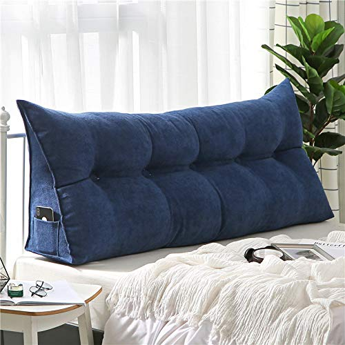 YLBH Cojines simples para mesita de noche, triángulo doble sofá respaldo, cama Tatami, paquete suave, almohadas de cama, cojines de cama extraíbles, 180 x 50 x 20 cm F