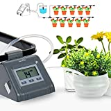 RAINPOINT Automatic Watering System, Smart Irrigation Pump Indoor DIY Drip Irrigation Kit for Potted Plants LCD Screen Programmable Timer Greenhouse Plants and Flowers (Grey)