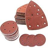Fogli Abrasivi per Mouse, Fogli Abrasivi, Levigatrice per Mouse, Cuscinetti di Carta Vetrata Triangolari per Mouse, Fogli Abrasivi Assortiti per Levigatrice e Tutti Gli Utensili Oscillanti