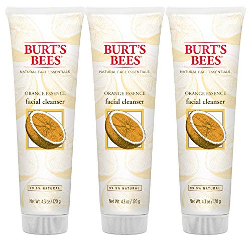 Burt's Bees Orange Essence Facial Cleanser, Sulfate-Free Face Wash, 4.3 Oz (Package May Vary)