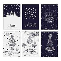 クリスマスカード メッセージカード 二つ折り 封筒付き グリーティングカード 12枚セット イラスト クリスマス 冬 挨拶状 お祝いメッセージカード 寄せ書き クリスマス雑貨