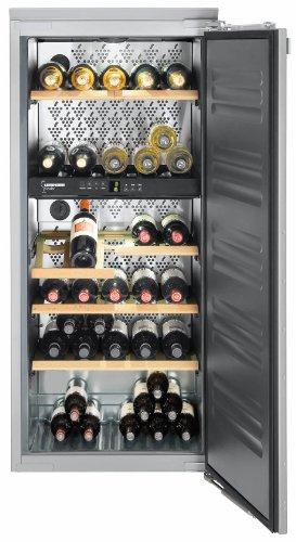 Liebherr WTI 2050 Vinidor Integrado Acero inoxidable 55botella(s) A - Enfriador de vino (Integrado, Acero inoxidable, Acero inoxidable, 6 estanterías, 1 puerta(s), Acero inoxidable)