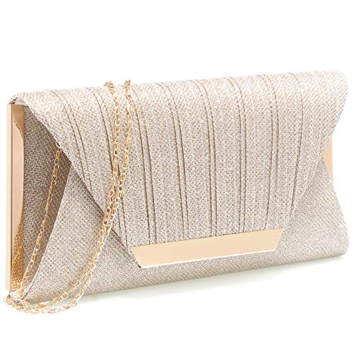 purses for women wedding clutch purses for women clutches for women(Champagne)