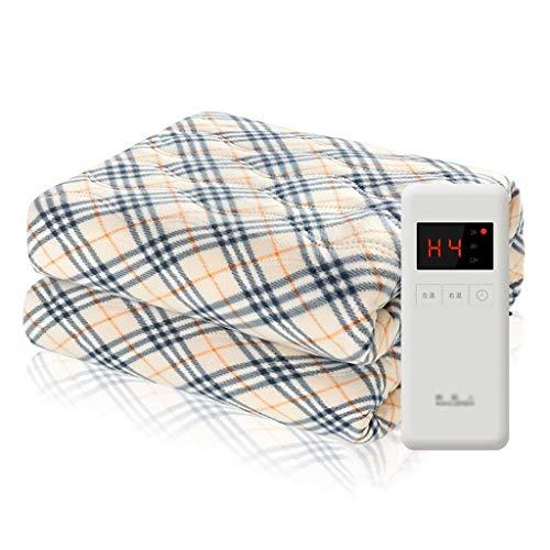 LONG FU Coperta elettrica a Lattice Dual Control, Coperta riscaldata Micro-Fleece 71 X59 con Tecnologia di Riscaldamento Rapida, 3 impostazioni di Calore e Timer Regolabile