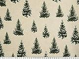 Zanderino ab 1m: Deko Weihnachtsstoff, Tannenbäume mit