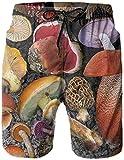 Pantalones De Playa para Hombre Pantalones Cortos Transpirables Cómodos Bañadores De Setas Adecuados para Surf De Verano Y Natación Deportes Al Aire Libre-XL