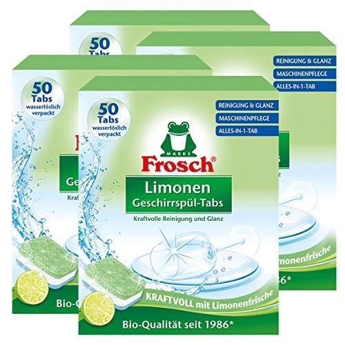 Frosch Limonen Geschirrspül-Tabs 50 Tabs - Reinigung und Glanz (4er Pack)