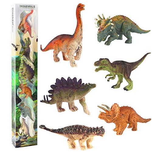 Dinosaurier Figuren Spielzeug- Realistische Dinosaurier Set Mini Dinosaurier Pädagogisches Spielzeug für 3 Jahren Jungen Mädchen