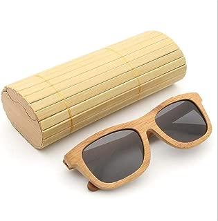 LXT PANDA Bamboo Wood Sunglasses, Polarized Handmade Wooden Shades in a Wayfarer That Floats,Ultra Light.
