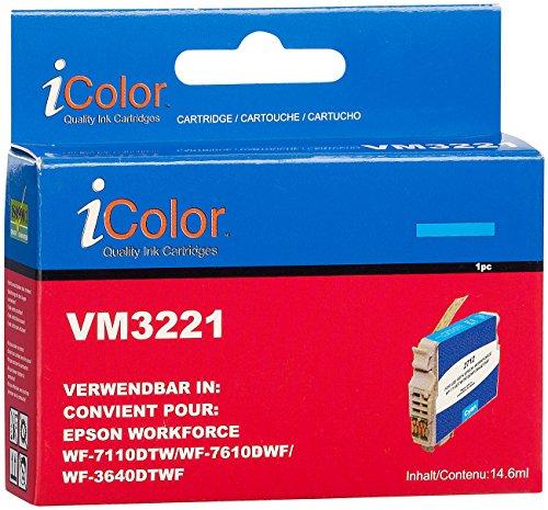 iColor kompatible Tintenpatronen für Tintenstrahldrucker, Epson: Tintenpatrone für Epson (ersetzt T2712 / 27XL), Cyan XL