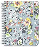 Vera Bradley 2020-2021 Planner Daily Weekly & Monthly, 17 Month Large Hardcover Personal Planner Dated Aug 2020-Dec 2021 with Stickers, Holidays/Notes Pages, Pocket, & Monthly Tabs, Floating Garden