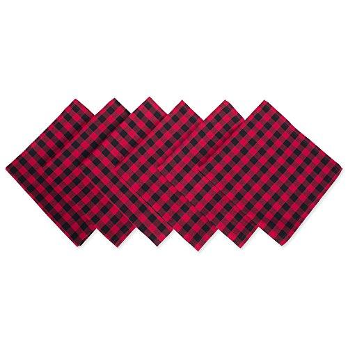 DII Logger Check Oversized Basic Everyday Napkin (Set of 6), 20 x 20