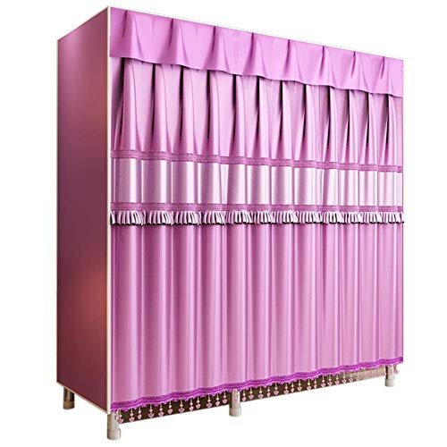 Armario Closet Organizador Dormitorio del armario Rápido y fácil de armar Extra fuerte y duradero, Varilla for colgar impermeable plegable, for zapatos de ropa, 130 x 50 x 172 cm para Ropa Ropero Colg