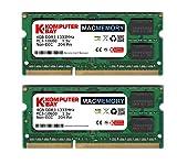 Komputerbay MACMEMORY 8GB (2x 4GB) DDR3 PC3-10600 1333MHz SODIMM 204-Pin Memoria del computer...