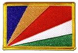 Aufnäher Patch Flagge Seychellen - 8 x 6 cm