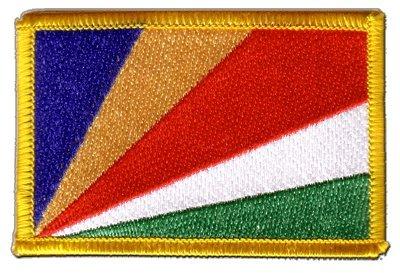 Flaggen Aufnäher Seychellen Fahne Patch + gratis Aufkleber, Flaggenfritze®