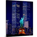 New York City, Statue of Liberty and Canvas Wall Art Print, New York City Artwork