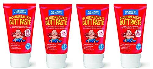 Price comparison product image Boudreaux's Butt Paste Diaper Rash Ointment - Maximum Strength - Contains 40% Zinc 2 oz,  4-Pack