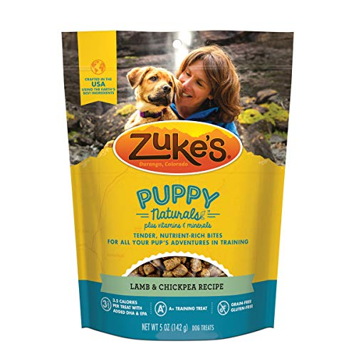 Zuke's Puppy Naturals Puppy Treats Lamb and Chickpea Recipe - 5 oz. Bag