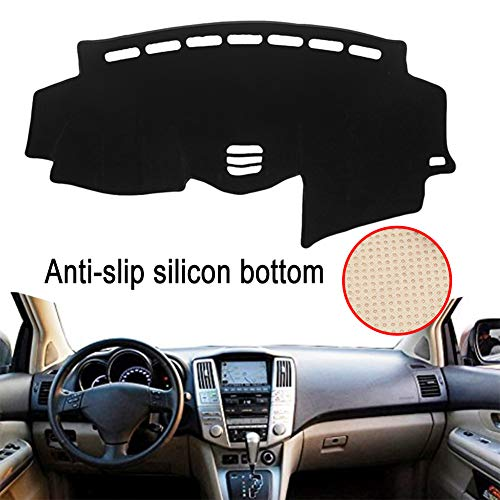 Clidr Anti-Slip Silicon Bottom Dashboard Cover for Lexus RX 300 330 350 2004 2005 2006 2007 2008 2009 Dash Cover Mat (Black Edge)