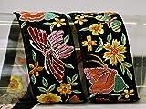 9 yardas al por mayor bordado cojín cubierta adorno bordado sari cinta costura artesanía frontera india sari decorativo recorte cojines cinta decoración del hogar vestido de boda encaje