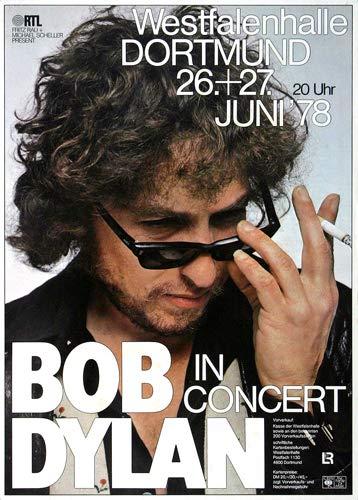 Bob Dylan & his Band - Street Legal 1978 - Poster Plakat Konzertposter