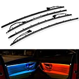 Striscia LED Luci Interne per Auto, Illuminazione Auto Strisce 2 Colori, Aggiornato Pannello Portiera per Auto Luce Ambientale Adatta per BM-W Serie 3 F30 2013-2019