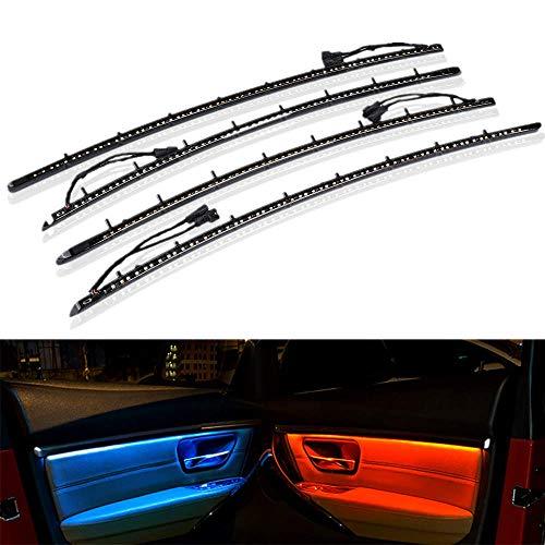 Luces interiores del coche, tira de luces LED para coche, mejora de 2 colores, panel de puerta de coche, luz ambiental para BM-W 3 Series F30 2013-2019