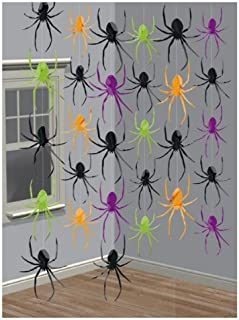 Halloween Party Spider String Decorations Pk6 by Partyrama