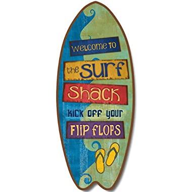 Welcome to the Surf Shack Decorative Surfboard Mountable Wall Plaque