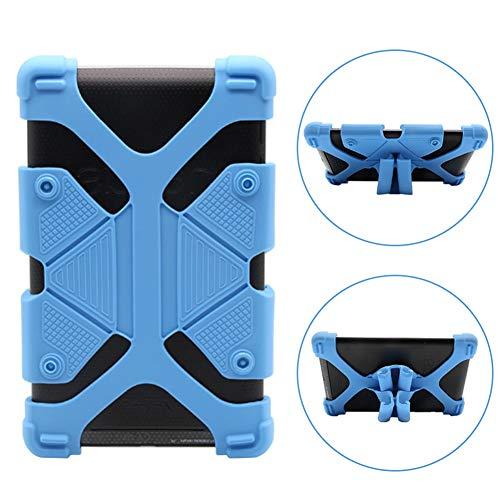 INTVN Funda de Silicona/Soporte Universal, Extensible y Ajustable a Prueba de Golpes para Tablets Funda Universal de Silicona para Tableta de 7 a 8 Pulgadas Azul