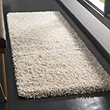 SAFAVIEH California Premium Shag Collection SG151 Non-Shedding Living Room Bedroom Dining Room Entryway Plush 2-inch Thick Runner, 2'3' x 13' , Beige