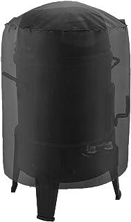 Grey Garosa Kettle BBQ Grill Cover Impermeabile Antipioggia Antivento Anti-Polvere Protector Oxford Traspirante Copertura Rotonda Barbecue con Cordoncino e Custodia per Giardino Esterno Patio Yard