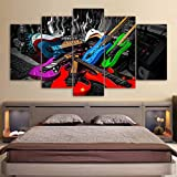 Modular Canvas Painting Home Decor Frame 5 Panel Colorful Ro
