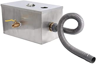 8lbs 5GPM Grease Trap Interceptor Stainless Steel For Restaurant Kitchen