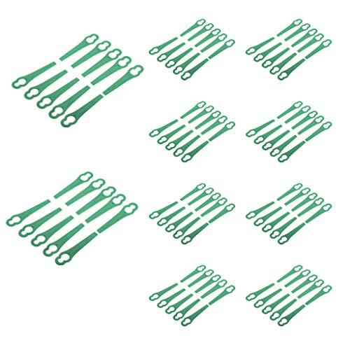 HINK Cortador de Cuchillas de plástico de 100 Uds.Reemplazo para Cortador de Cultivos de jardín de césped inalámbrico, hogar y jardín, Patio, césped y jardín